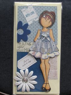 OOAK  Pretty Prima Doll in Liberty Cotton Dress by DollyandCo, $6.00