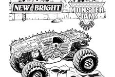 10 Monster Jam Coloring Pages To Print | Monster truck ...