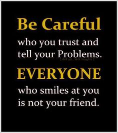 We have to be careful