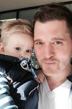 Michael Buble May 23, 2014 Noah Buble was giving his famous dad, singer Michael Buble, a run for his money in the adorable department on May...