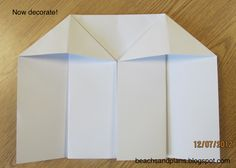 How to make a foldable house - Cool!  The students will love doing this!