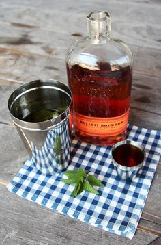 hotteaandoranges:  splendiferoushoney:Mint Julep 1-2 tbssimple syrup8-10 fresh mint leaves3 oz bourbonLots of crushed ice Gentlymuddle the mint leaves in a Julep tin or old fashioned glass, rubbing the oils around. Add simple syrup and about half the bourbon. Add crushed ice to just below the top of the glass. Stir well until the glass gets frosty. Add the remainder of the bourbon and stir again. Top with crushed ice and garnish with mint. Serve with cocktail straws recipe via American…