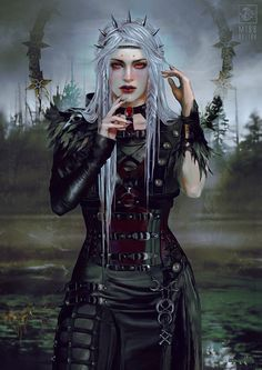 Beautiful Science Fiction, Fantasy and Horror art from all over the world. Fantasy Warrior, Fantasy Rpg, Dark Fantasy Art, Fantasy Artwork, Dungeons And Dragons Characters, Fantasy Characters, Female Characters, Cartoon Characters, Fantasy Character Design
