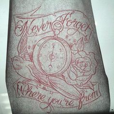 #neverforgetwhereyoucomefrom #tattoo #compass beautiful, except the rose maybe a lily or home state flower