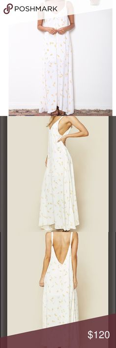 FLYNN SKYE- Arrow Maxi🌞 **Just bought off Flynn Skye website! Ordered one too many on accident. Still in package with tags!**   Sweeping maxi dress with a v-neckline in the front and a deep v in the back. Flynn Skye Dresses Maxi