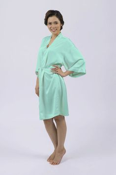 Matchimony Mint Dressing Gown available with optional customised diamante
