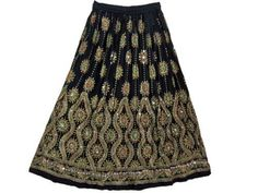 Gift Idea- Boho Skirt Black Gold Sequin Skirt Bohemian Womens Long Skirt Discounted Maxi Skirt mogul interior, http://www.amazon.com/gp/product/B008SQHI4Y/ref=cm_sw_r_pi_alp_vRqmqb0JCGNWY