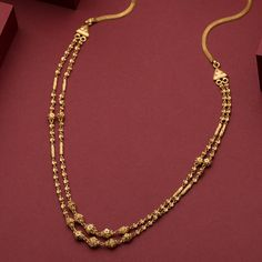 Gold Chain Design, Gold Ring Designs, Gold Earrings Designs, Necklace Designs, Gold Haram Designs, Gold Jewelry Simple, Light Weight Gold Jewellery, Gold Necklace, Chevron Necklace