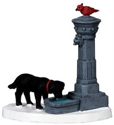2010 Coventry Cove Water Fountain Christmas Village Accessory ** Click image for more details.