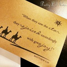 Wise Men Star Bible Verse Kraft Christmas Christian Holiday Card