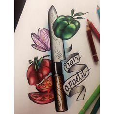 Tojiro knife with some veggies! 🍅🌶👌🏽😀 healthy food rules! #nefatattoo #ritualtattooathens #food #foodtattoo #instasketch #instatattoo #instatts #neotrad #neotradstyle #neotradsketch #neotradtattoo #tojiro #tojiroknife #knifetattoo #knifedesign #tomatoe #tomatoedesign #pepper #greenpepper #greenpepperdesign #pepperdesign #onion #oniondesign #healthyfood #healthy #bonappetit @ritualtattooathens
