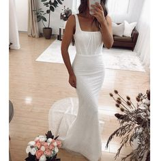 Bohemian Wedding Dresses, New Wedding Dresses, Party Dresses For Women, Cheap Wedding Dress, Bridal Dresses, Wedding Looks, Dream Wedding, Wedding Band, Form Fitting Wedding Dress