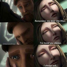 They were a favorite of mine in the Clone Wars. They showed the other path Anakin and Padme's relationship could have gone when he protected her. Their situation was almost the same as Satine and Obi-wan, but they chose the other option.