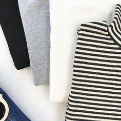 包郵!2016秋裝新款學院風高領百搭基本款修身長袖韓版打底T恤