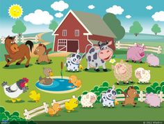 Ru preschool classroom themes, mural infantil, board decoration, far Preschool Classroom Themes, Farm Animals Preschool, Preschool Crafts, Animal Crafts For Kids, Art For Kids, Nemo Coloring Pages, Kindergarten Coloring Pages, Farm Quilt, Cartoon Background