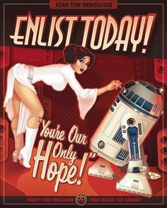 """""""Star Wars"""": Brutal galería de carteles de reclutamiento - Aullidos.com"""