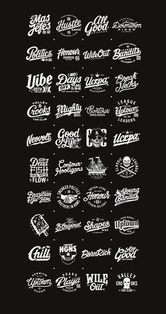 Selected typography works, logos and images. I was glad to work with this companies and shall upload the photos of the stuff when it will be available. Big Thanks for supporting and checking my stuff! Logo 3d, Identity Design, Schrift Design, Typographie Inspiration, Typographie Logo, Graphisches Design, Vintage Logo Design, Vintage Logos, Retro Logos