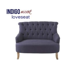 Regardless of how your perception is, this loveseat settee shows off. Right in front: Vibrant indigo cotton/linen, hand-tufted over a deluxe high-backed body, along with lightly flared arms and the white kind of wooden legs. On the flip side: Vintage rolled back in a lovely astonish cover of sentimental, all-natural burlap. Take A Seat, Love Seat, High Back Bench, Banquette Bench, Settee, Hollywood Regency, Perception, Contemporary Furniture, Cotton Linen