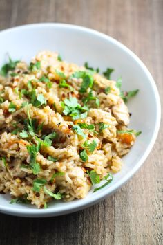 Looking for a comforting bowl of Indian-inspired goodness?! Try this Low Fodmap Chicken Biryani!