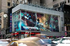 Transformers The Last Knight - Optimus Prime Over Times Square On New Billboard