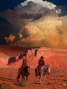 The Vermilion Trail, Mark Maggiori, Oil on Linen, 2020 : Art Western Art, Western Cowboy, Western Style, Westerns, Cowboy Art, Southwest Art, Le Far West, Horse Art, Magazine Art