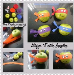 Ninja turtle apples- hot glue Google eyes, wrap in cello bags with thank you note.