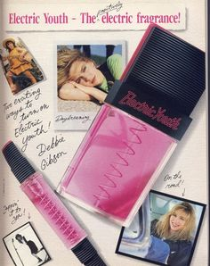 Electric Youth perfume by Debbie Gibson. I really wore this!!