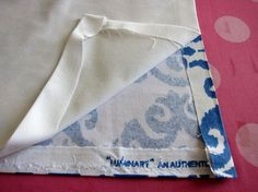 How-to-use-fabric-glue-to-make a lined no sew valance. So clever!!