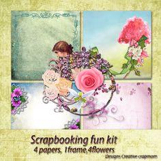 Welkom bij Creative Scrapmom: Scrapbooking Fun kit