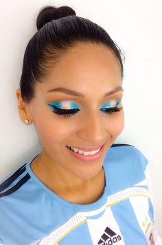 #argentina #vamosargentina #messi #makeup #worldcupmakeup #fifa #worldcup2014 #maquillaje #latina #makeuptutorial