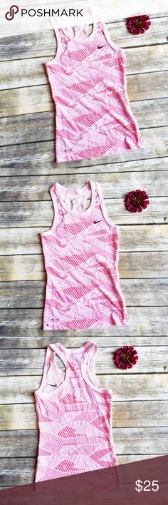 Nike Pink Striped Running Tank  ★ Excellent condition!  ★ This super cute pink striped running tank is perfect for summer workout and exercise activities! Get it now!  ★ NO TRADES!   ★ NO MODELING!  ★ YES REASONABLE OFFERS! ✅ ★ Measurements available by request and as soon as possible.  Nike Tops Tank Tops