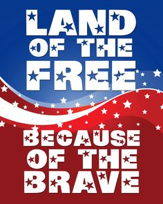 Land of the free because of the brave.  Happy Memorial Day!  #memorialday #thankyouvets