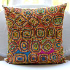 Decorative Euro Sham Covers Accent Pillow Couch 26 Inch Silk Euro Sham Cover Embroidered Colorful Dream Bedroom Bedding Housewares Handmade