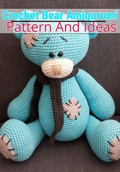 I have rounded up a huge list of free crochet teddy bear patterns for you to get inspired by these cute and soft teddy bears. You could absolutely make them with your own crochet hooks Crochet Teddy Bear Pattern, Crochet Baby Hat Patterns, Crochet Baby Toys, Christmas Crochet Patterns, Crochet Bunny, Crochet Animals, Amigurumi Patterns, Free Crochet, Crochet Ideas