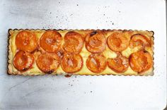 Dessert - APRICOT RICOTTA TART WITH CARAMEL BUTTER, dash and bella: NO WORDS