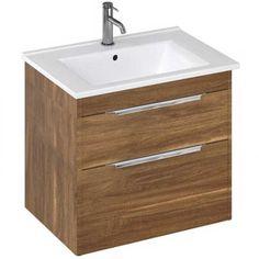 Britton Shoreditch Vanity Unit   620mm   S65DDC   Caramel Basin Vanity Unit, Bathroom Vanity Units, Minerva Worktop, Countertop Basin, Basin Mixer Taps, Drawer Organisers, Brass Handles, Black Mirror, Furniture Collection