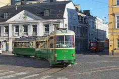 Trams of Helsinki, Aleksanterinkatu street (red one is a tram turned into a bar)