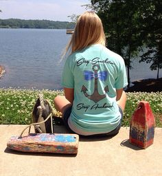 Mint Southern Anchor Logo Pocket Tee on Etsy, $25.00