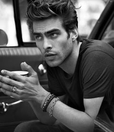 This is my most fav male model. I hope he realises he's mine. Those lips. That jaw. #deathbyfeatures #jonkortajarena