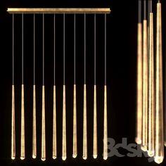 Suspension Restoration Hardware Aquitane Linear chandelier 48