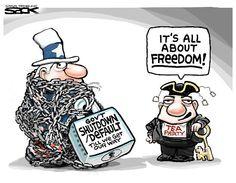 Sack cartoon: Freedom   Star Tribune
