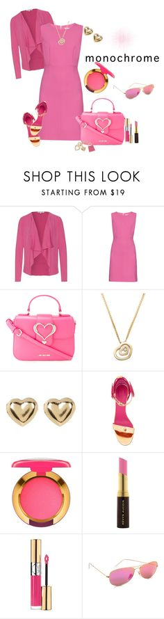 """""""monochrome pink"""" by pam-doel ❤ liked on Polyvore featuring Diane Von Furstenberg, Love Moschino, Chopard, Candela, Oscar Tiye, MAC Cosmetics, Kevyn Aucoin, Yves Saint Laurent, Ray-Ban and Juicy Couture"""