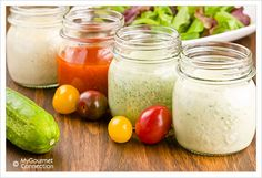 Classic Homemade Salad Dressings: Classic Vinaigrette, Blue Cheese Dressing, French Dressing, Green Goddess, Buttermilk Ranch,