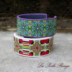 Bracelets rigides pâte polymère canes kaléidoscopes