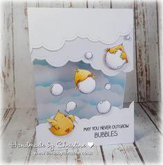 Hi Lovelies..      I'm back with another of the fabulous new release from Stamping Bella.. this is 'Bubble Chicks'! I decided to h...