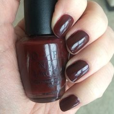 OPI A Man in Every Port-ugal. Love this dark red. It's one of my oldest, from 2002.