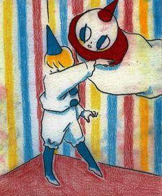 Pretty Drawings, Cool Drawings, Pretty Art, Cute Art, Cute Clown, Aesthetic Art, Rainbow Aesthetic, Kawaii, Art Inspo