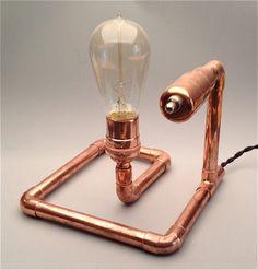 regalos para hombres, regalos para él, Industrial, personalizada luz, iluminación, steampunk-ciclo de luz, lámpara de escritorio, luz rústico, lámpara de mesa