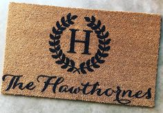 Our custom doormats make for great wedding presents! Great Wedding Presents, Wedding Gifts, Insta Followers, Doormats, Instagram Posts, Etsy, Home Decor, Wedding Day Gifts, Door Mats
