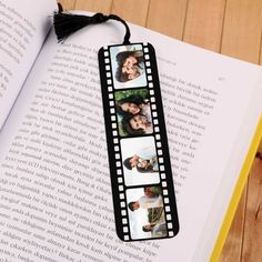 Booklet with Filmstrip Photo Book Bullet Journal Books, Book Journal, Fun Crafts, Diy And Crafts, Paper Crafts, Photo Bookmarks, Film Strip, Birthday Presents, Tutorial